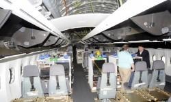 Consolas de los ingenieros de vuelos de prueba.