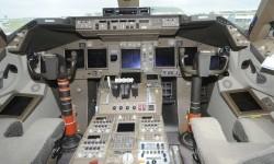 La cabina de los pilotos.