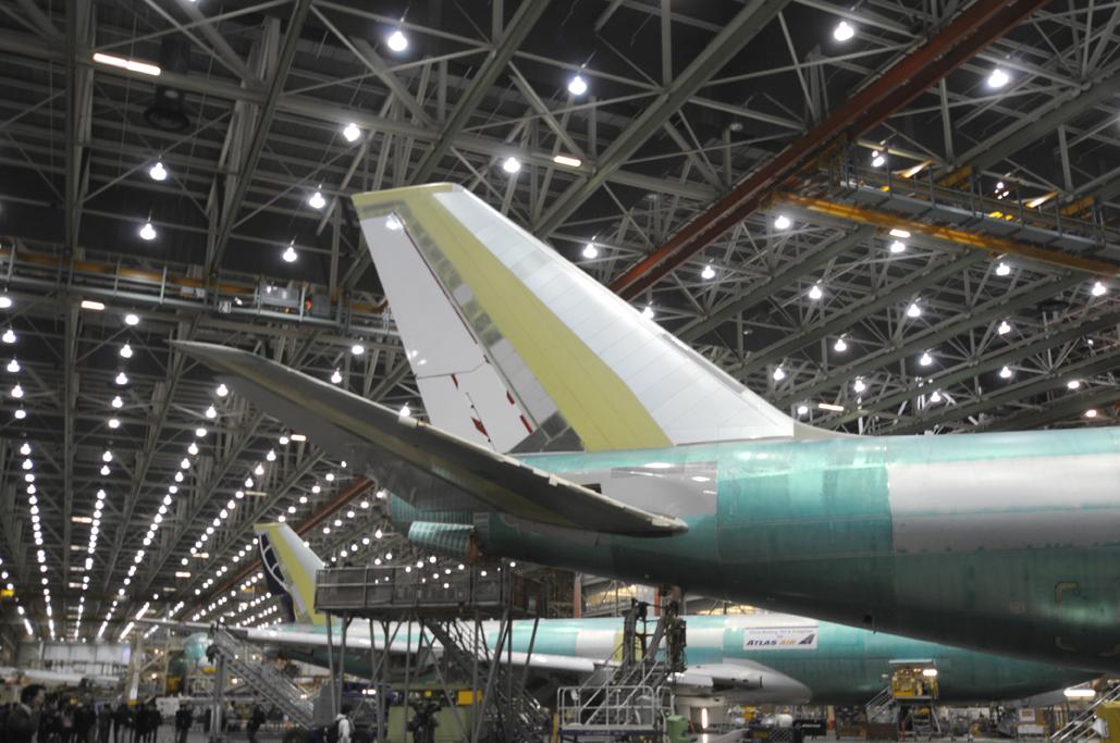 En la cadena de producción del B-747-8