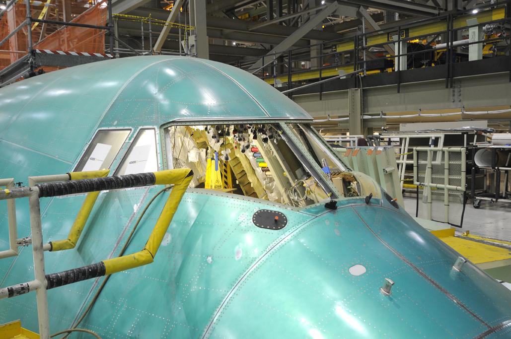 En la cadenade producción del B-747-8