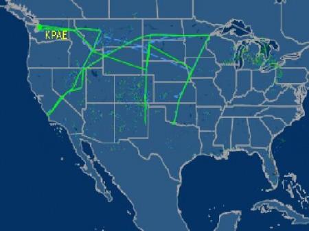 Vuelo del 747 sobre USA