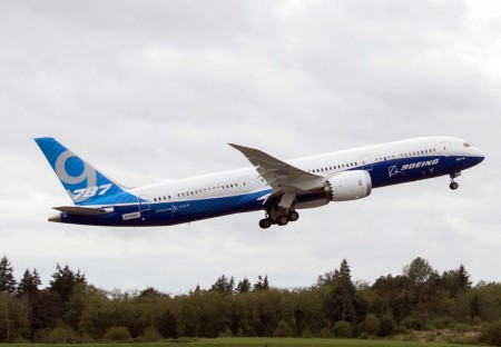 Despegue del Boeing 787-9 N789EX
