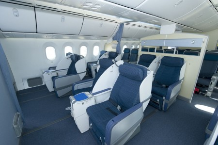 Clase ejecutiva del Boeing 787 de ANA