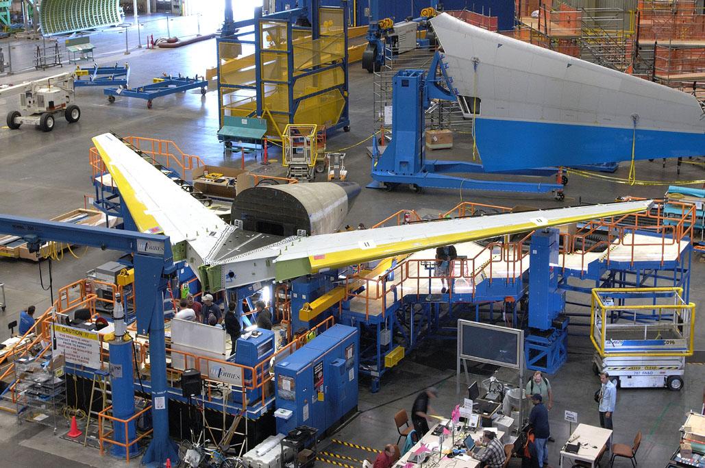 Estabilizador horizontal del Boeing 787 Dreamliner