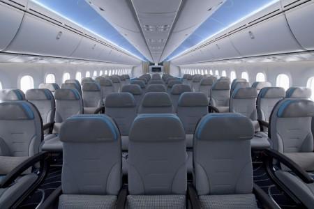Interior del B-787 Dreamliner ZA003