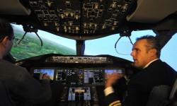 El centro de instrucción de Londres Gartwick dispone, entre otros, de dos simuladores de Boeing 787.