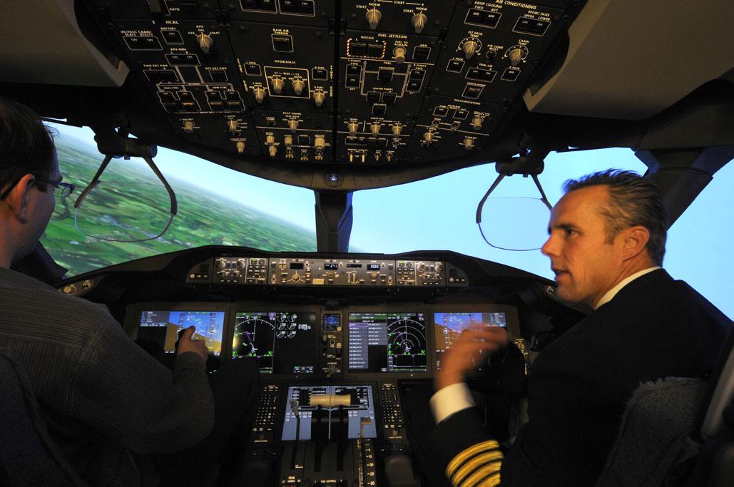 Simulador de Boeing 787.