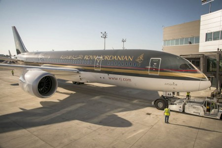 Primer Boeing 787 de Royal Jordanian
