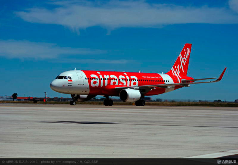 El avión de AirAsia desaparecido es un A320 entregado a la aerolínea en octubre de 2008