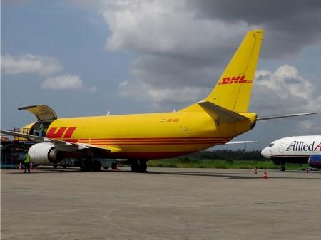 El B-737 9G-AGL alquilado por Swiftair y operado por Air Ghana para DHL.