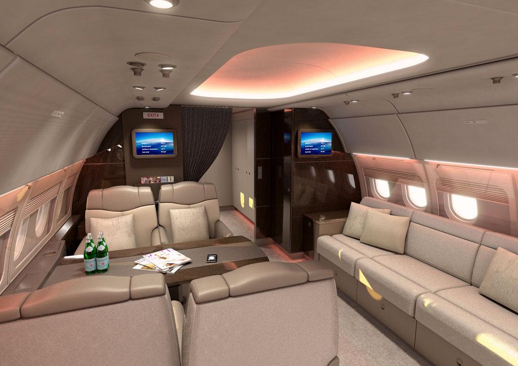 Interior del Airbus A318