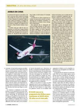 Artículo en Fly News sobre los 25 años del Airbus A320