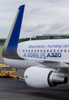 Sharklet en un Airbus A320