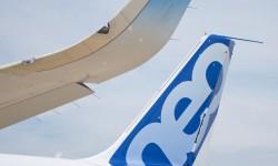 Detalle del sharklet del A320neo