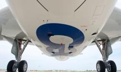 Detalle de la panza del avión