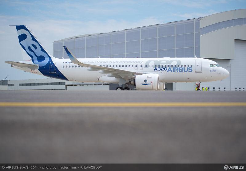 Todo listo para el primer vuelo del A320neo