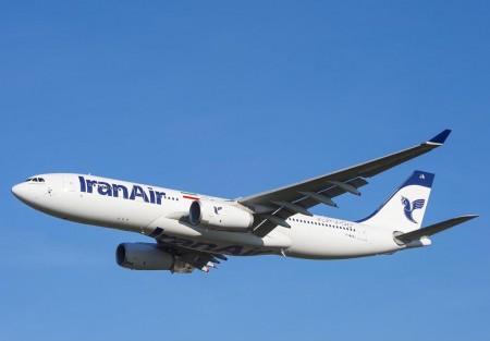 El primer A330 de Iran Air en uno de sus vuelos de prueba previos a su entrega.