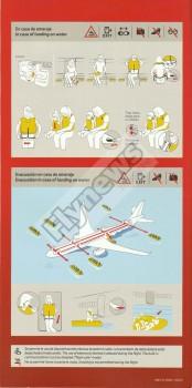 Instrucciones de seguridad del Airbus A330-200 de Iberia.