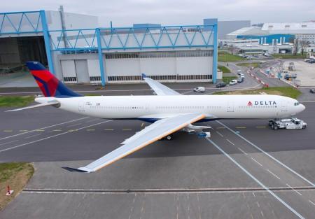 Delta incorporó sus primeros A330 con la compra de Northwest. Hoy es uno de sus aviones básicos para el largo radio.