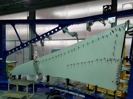 Sharklet producido por Korean Aerosapace para el primer Airbus A330-800.