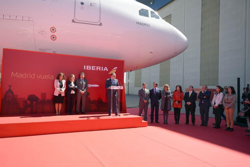 Presentación del Airbus A330 Madrid de Iberia