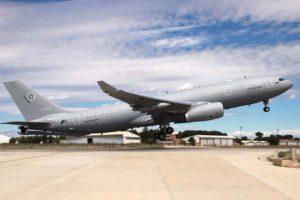 Despegue de Getafe en un vuelo de prueba del primer Airbus A330MRTT de la OTAN.