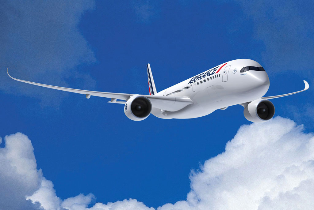 Airbus A350-900 con colores de Air France