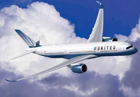 Ilustración publicada por Airbus con motivo del acuerdo original con United por 35 A350-900.