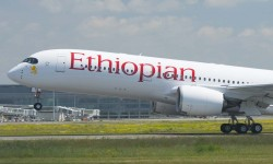 Despegue del primer A350 de Ethiopian Airlines.