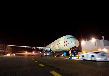 Célula de ensayos estaticos del Airbus A350