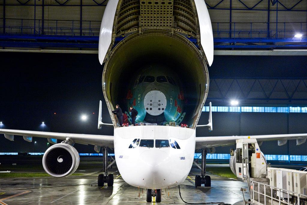 Primer fuselaje delantero de Airbus A350