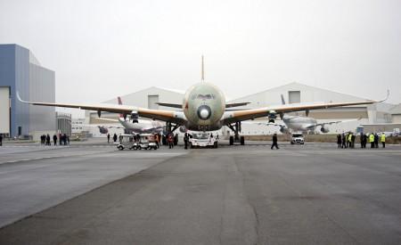 Traslado del primer Airbus A350 que volará