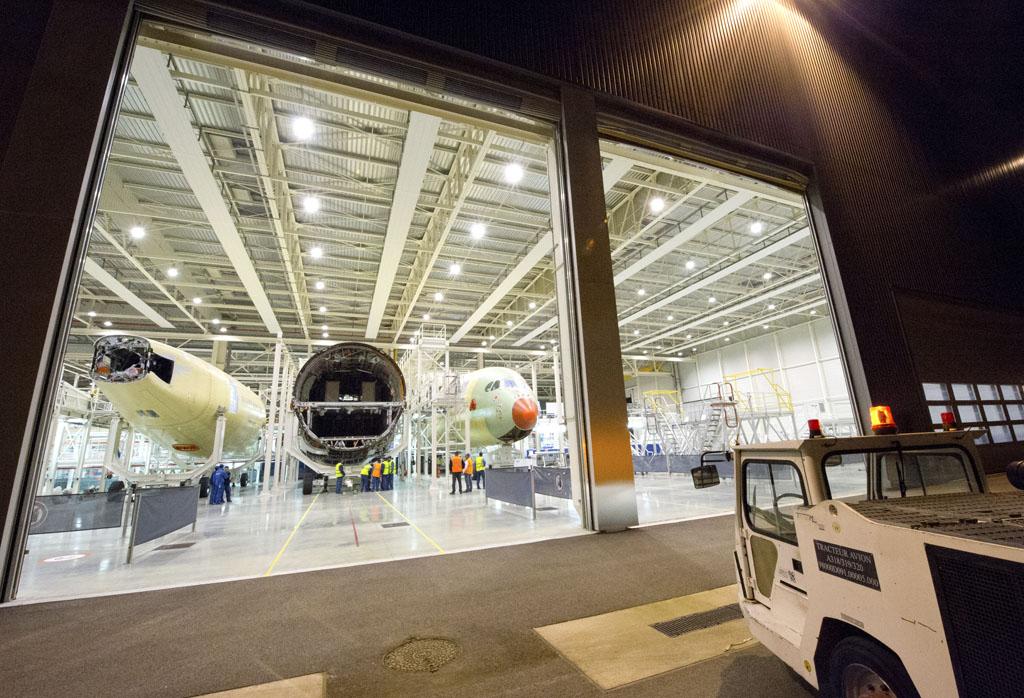 Componentes del tercer A350 XWB.