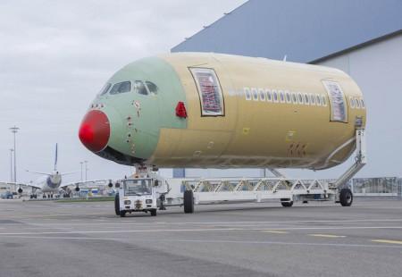 Sección delantera del Airbus A350 número 5