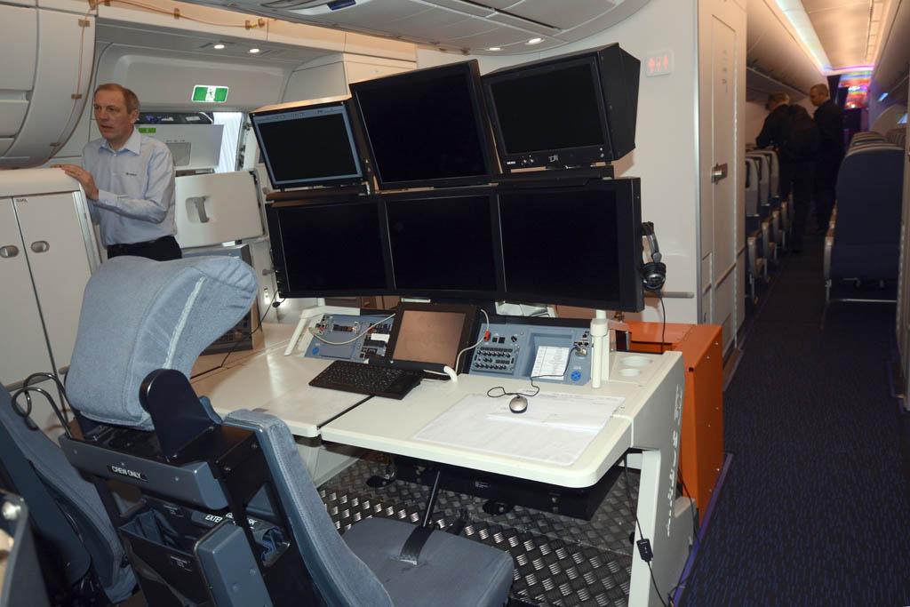 Cabina de pasaje del Airbus A350 XWB