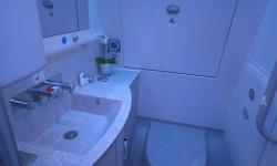 Los lavabos del A350 no cambian respecto a los de otros aviones.
