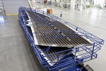 Superficies inferiores de las primeras alas del A350.