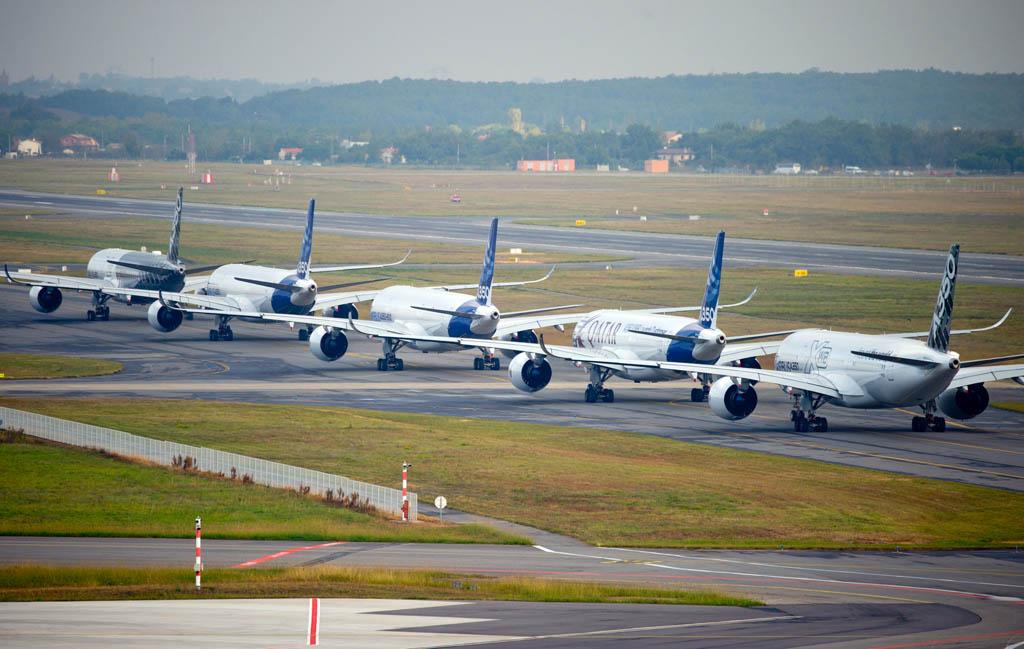 Rodaje hacia cabecera de los cinco A350 XWB