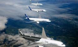 Airbus ha decorado de forma diferente cada uno de los cinco aviones que han participado en el programa de certificación.