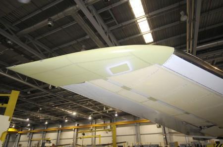 Punta del estabilizador horizontal del A350 XWB