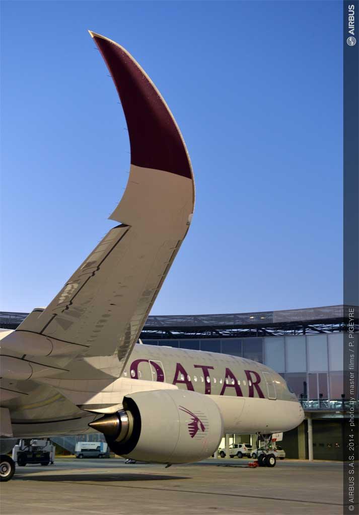 Airbus entrega a Qatar Airways el primer A350-900 XWB que entrará en servicio con una aerolínea