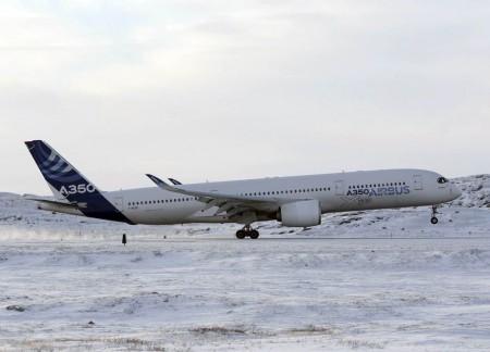Airbus ha usado el segundo de los A350 para las pruebas de frío extremo.