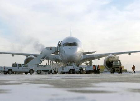 48 técnicos de Airbus han participado en las pruebas de frío extremo del A350.