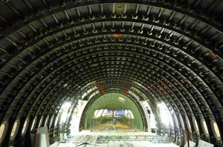 Interior del fuselaje delprimer A350 XWB