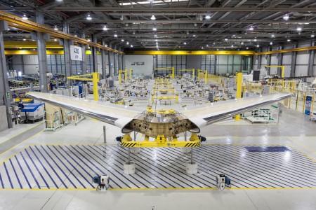 Estabilizador horizontal del Airbus A350 en Getafe