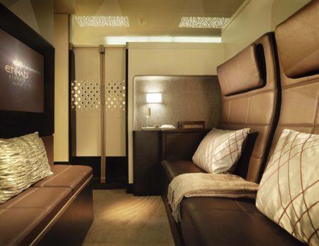 Cabina de The Residece, al super primera clase de Etihand en el A380.