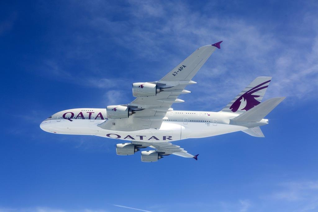 Qatar Airways ha adquirido 10 A380 de los que ya ha recibido cuatro.