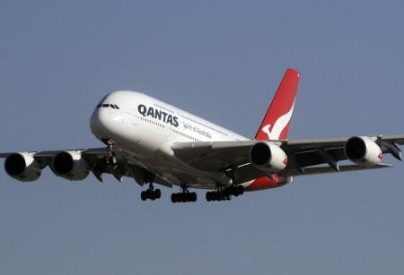 Quinto A380 de Qantas en vuelo el día de Nochebuena