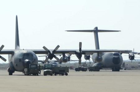El A400M irá sustituyendo a los C-130 a lo largo de los próximos años en la flota del Ala 31 del Ejército del Aire español.