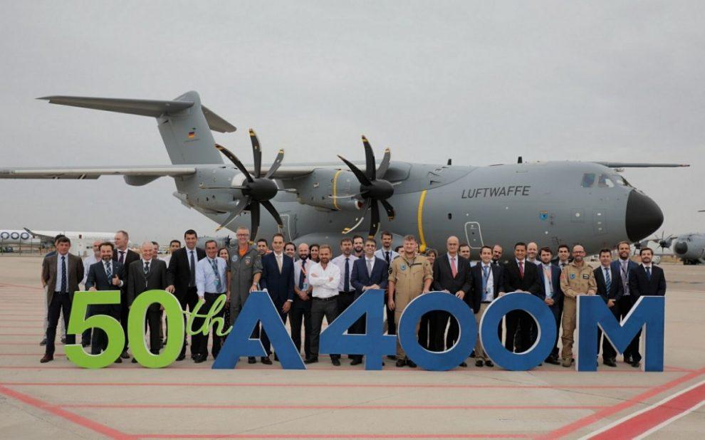 En 2017 Airbus ha entregado una veintena de A400M, incluido el ejemplar número 50.